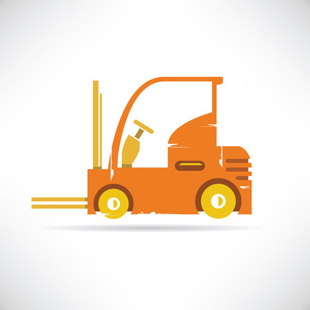 counterbalanced: forklift Illustration