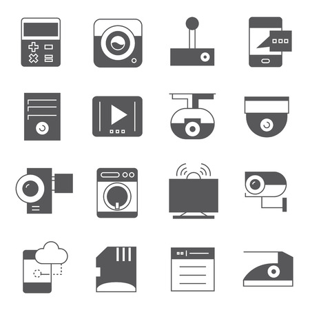 electronic device: electronic device icons Illustration