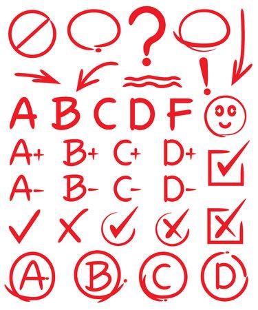 Rangen, vinkjes, met de hand getekende elementen Stockfoto - 44760247