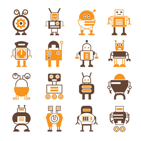 antenna: robot icons