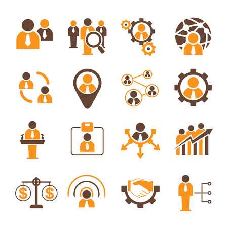 job icon: people management and human resource icons