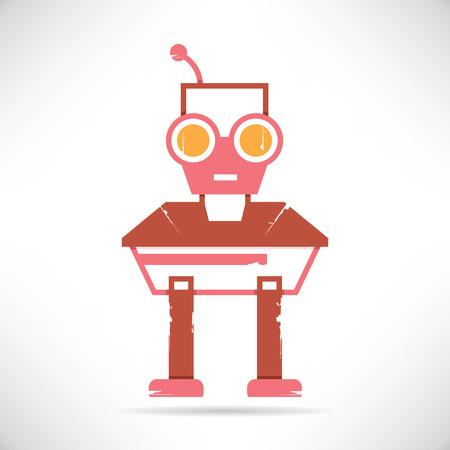 old pc: cartoon robot Illustration