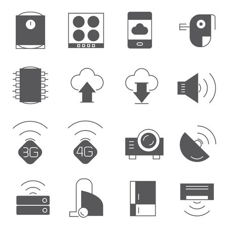 electronic device: electronic device and network icons