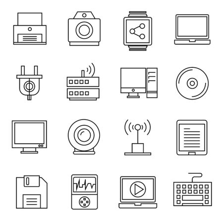 dish disk: computer, gadget icons