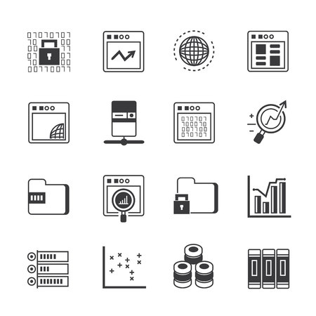 security icon: data analytics icons Illustration