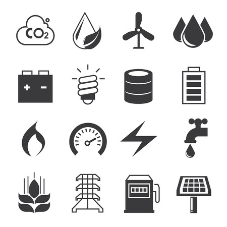 gas tap: energy icons