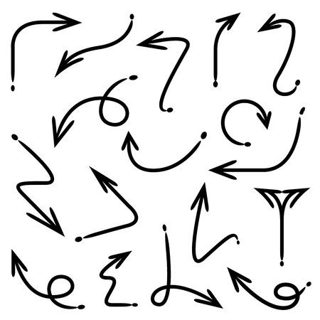 hand drawn arrows Illustration