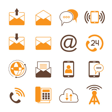 phone symbol: phone and email icons
