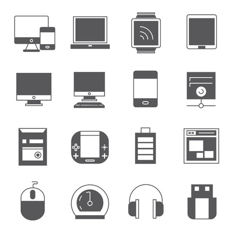 computer icons: computer and gadget icons