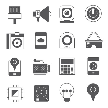 device: electronic device icons Illustration