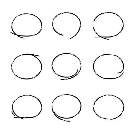 ovalo: grunge círculo