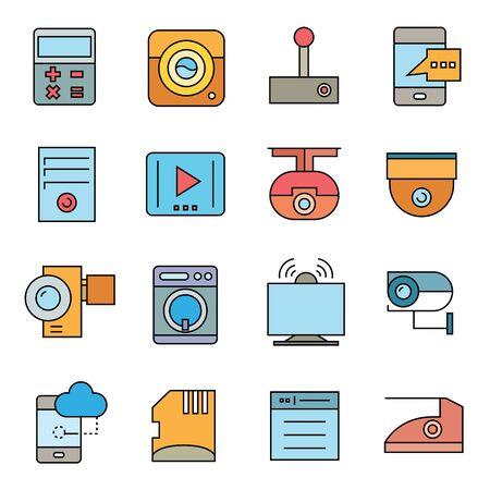 electronic device: electronic device icons Illustration