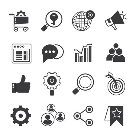 web marketing: web and internet marketing icons