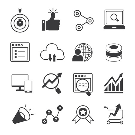 web and internet marketing icons