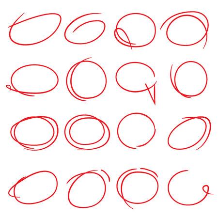 kugelschreiber: Textmarker Kreis Illustration