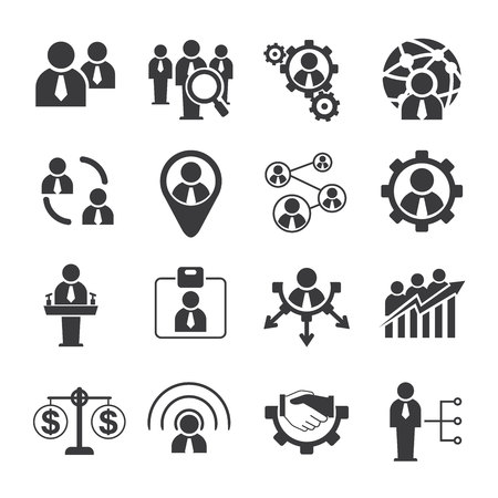 employment: business and human resource icons