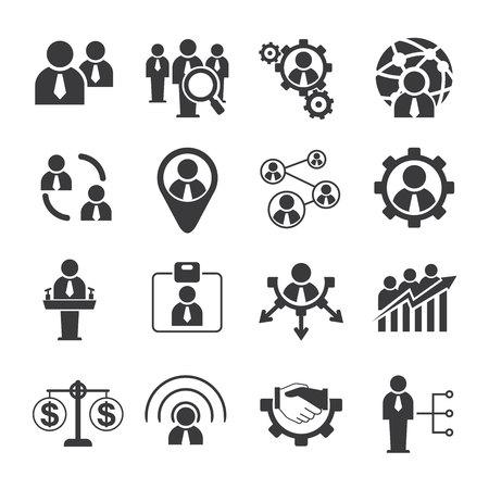 patron: de negocios y los iconos de recursos humanos Vectores