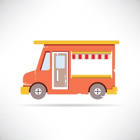 tiendas de comida: cami�n de comida Vectores