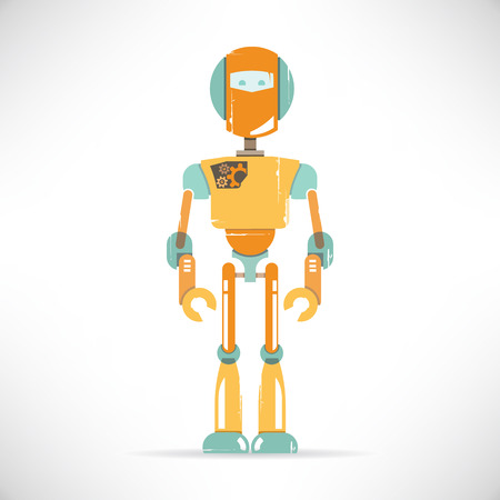 robot cartoon: robot