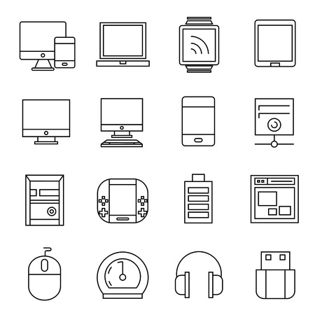 electronic device: computer and electronic device icons