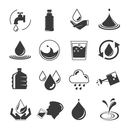 Icônes d'eau Banque d'images - 44759318