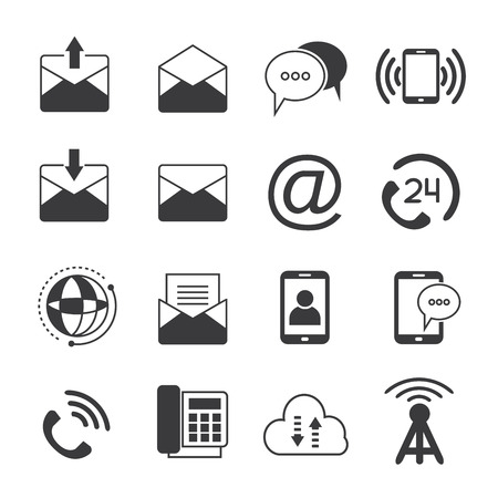 email icons: phone and email icons