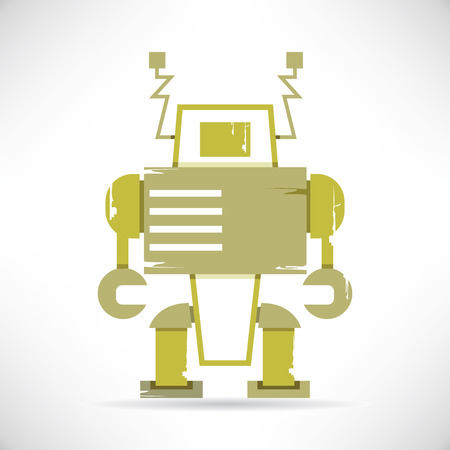 space robot: cartoon robot Illustration