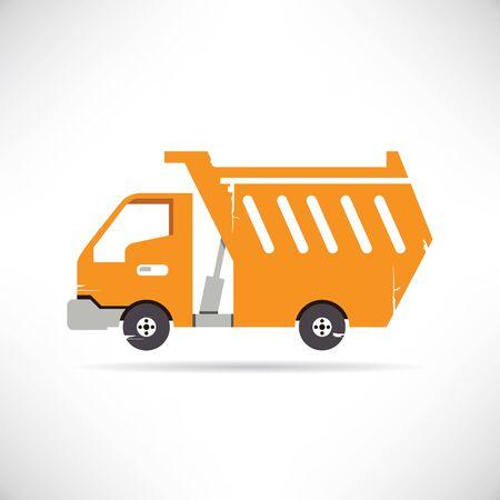 yellow tractors: heavy mining truck
