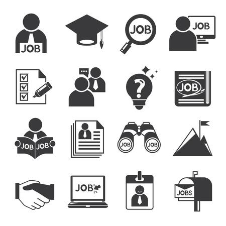 human resource iconen, taakpictogrammen Stock Illustratie