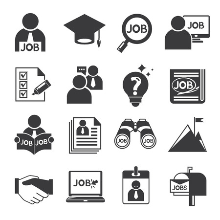 job hunting: human resource icons, job icons