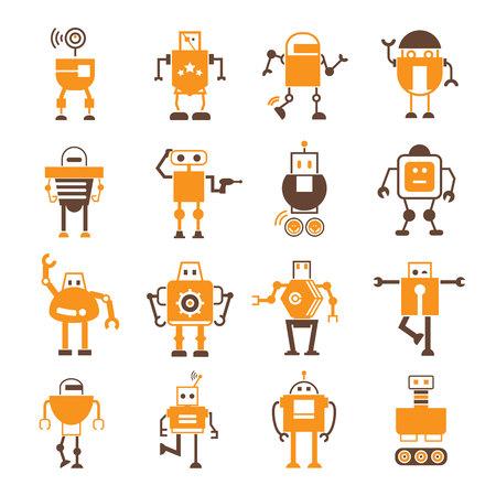Iconos robot Foto de archivo - 44760602