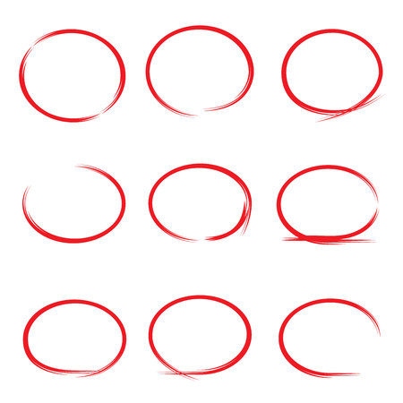 uncertainty: red hand drawn circles