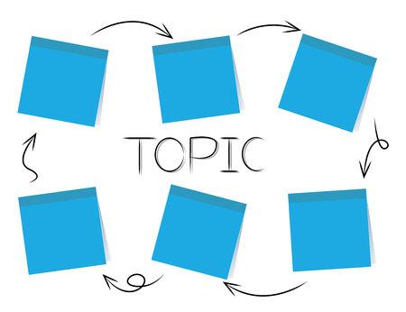 stick note paper chart