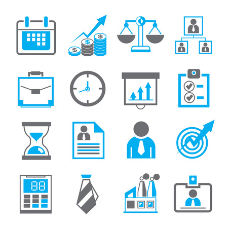 business icons Stock Illustratie