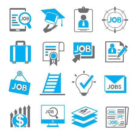 Icônes d'emploi Banque d'images - 45756016