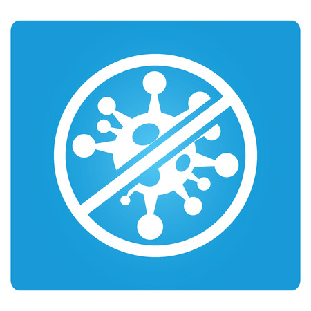 flu vaccination: no bacteria symbol