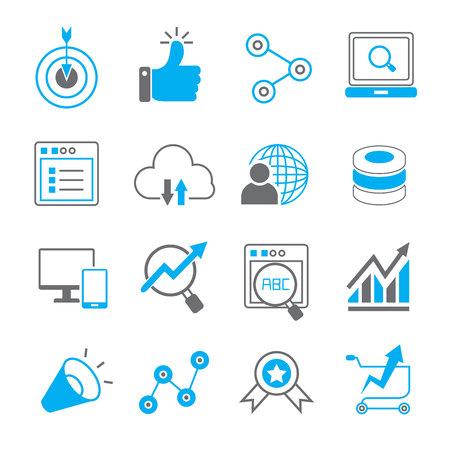 icônes médiaux sociaux, les icônes de seo Vecteurs