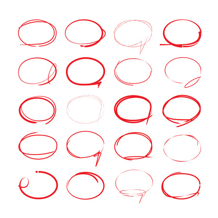 the writing: red hand drawn circles