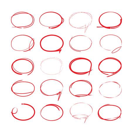 red hand drawn circles Stok Fotoğraf - 45548708