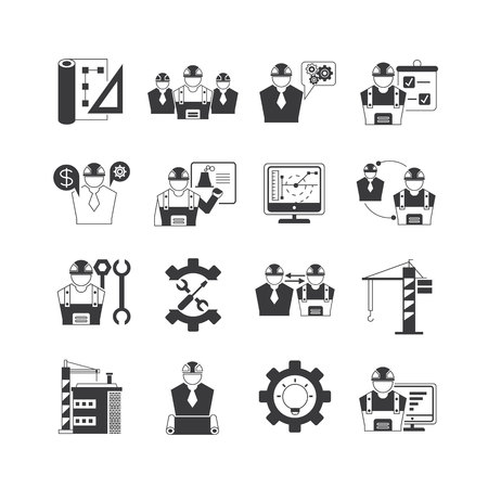 engineering: project engineering icons