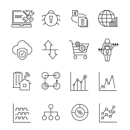 wireles: network and data icons