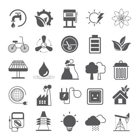 pluviometro: iconos de energía