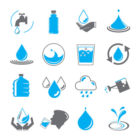 drinking water: water icons