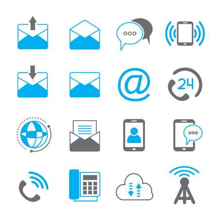 email icons: email and contact icons Illustration