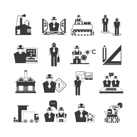 design process: industrial engineering icons