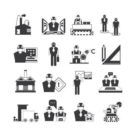 engineering icon: industrial engineering icons