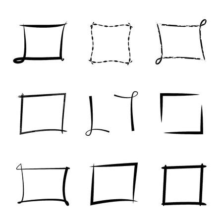 emphasized: grunge frames Illustration