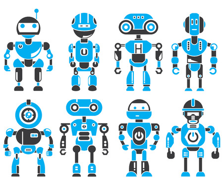 robot vector: robots Illustration