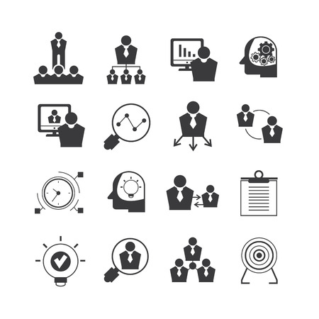 business management: office and business management icons