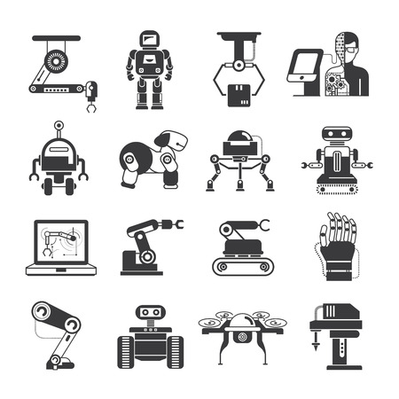 robot hand: artificial intelligence icons